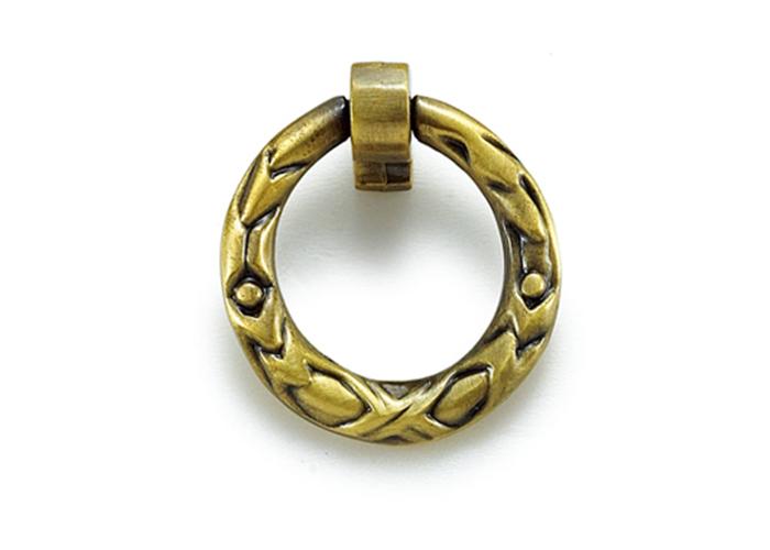 YJ3634黄古铜圆环拉手