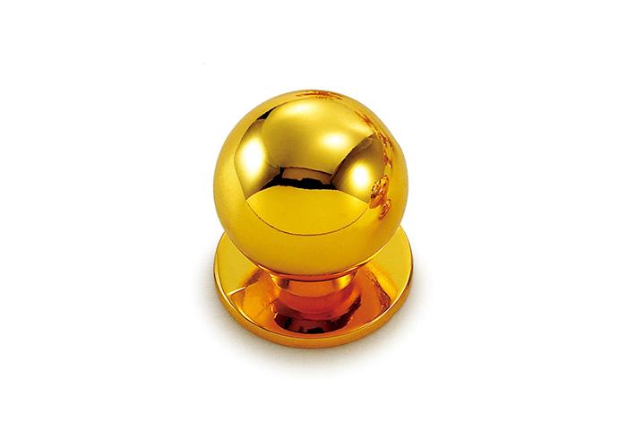 YJ3744金色球形单孔拉手